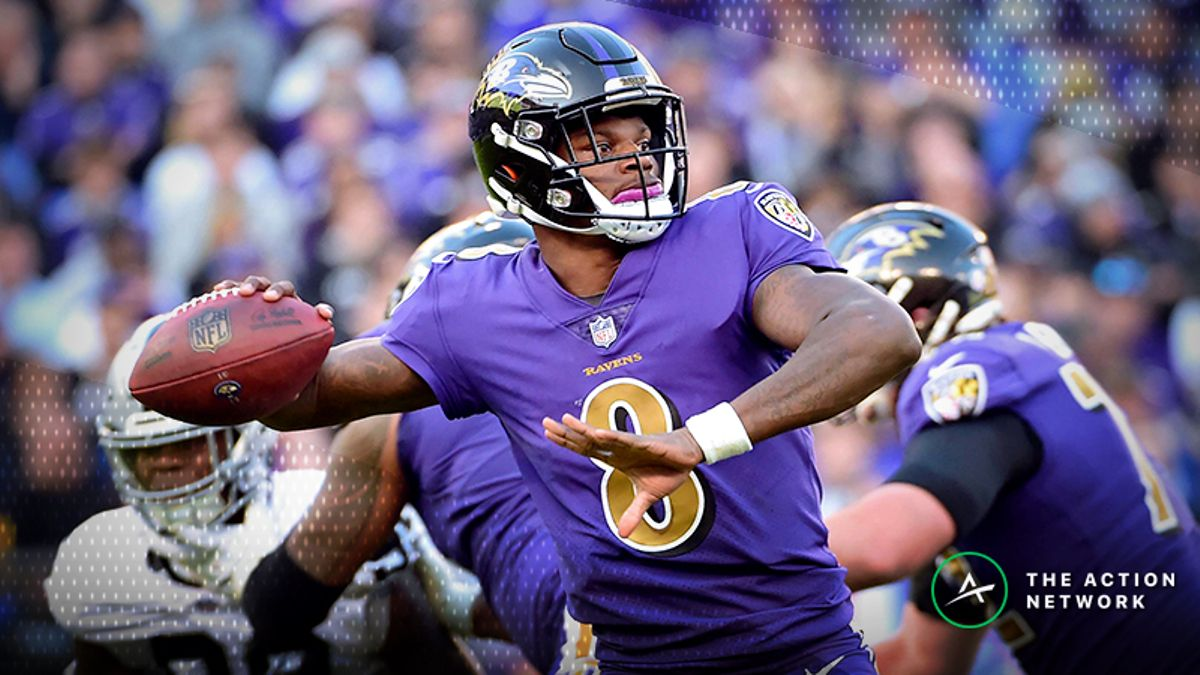 NFL Week 15 Fantasy QB Breakdown: Lamar Jackson Is the Mid-Priced Cash-Game Play article feature image
