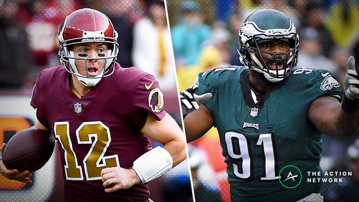 Redskins-Eagles MNF Betting Preview: Can Colt McCoy Hang With Philly in Prime Time? article feature image
