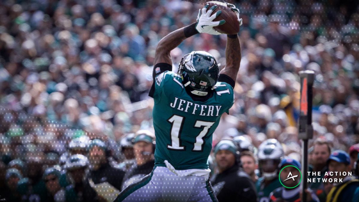 Best Redskins-Eagles MNF Player Props: Alshon Jeffery Over/Under 55.5 Receiving Yards? article feature image