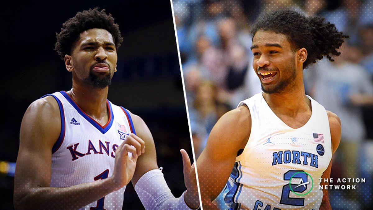 Tuesday College Basketball Betting Previews: Kansas-Texas, North Carolina-Georgia Tech article feature image