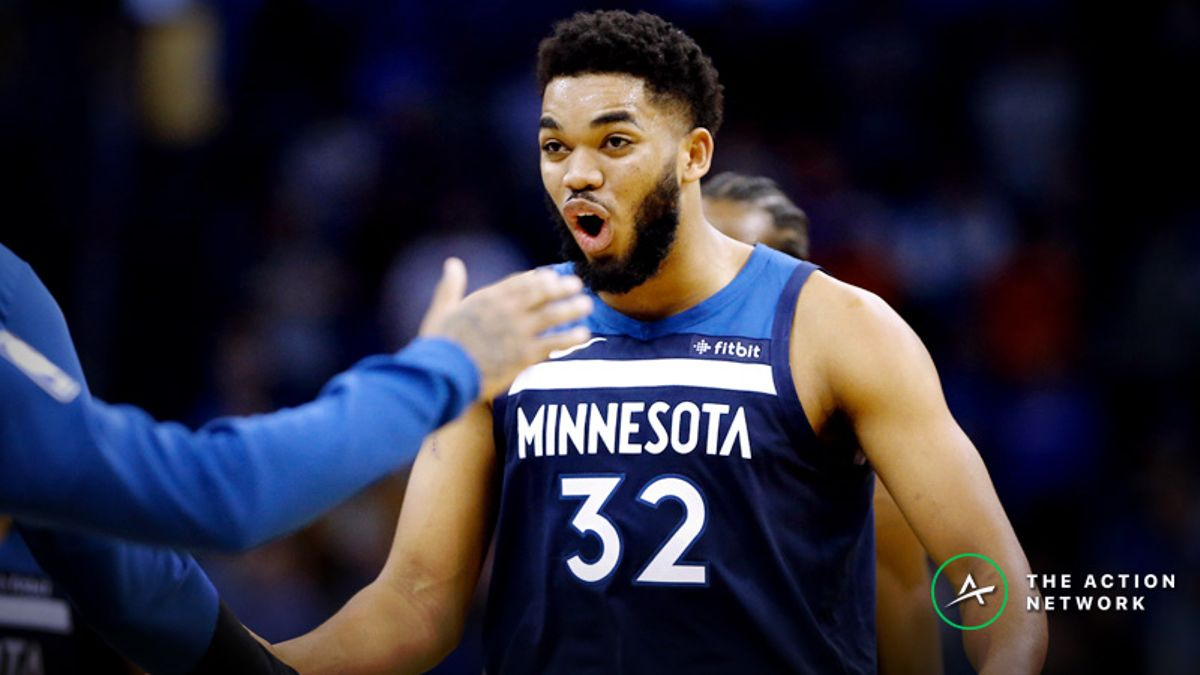 Freedman's Favorite Fantasy Point Prop Bet (Jan. 20): Will Karl-Anthony Towns Score More Than 32 Fantasy Points? article feature image