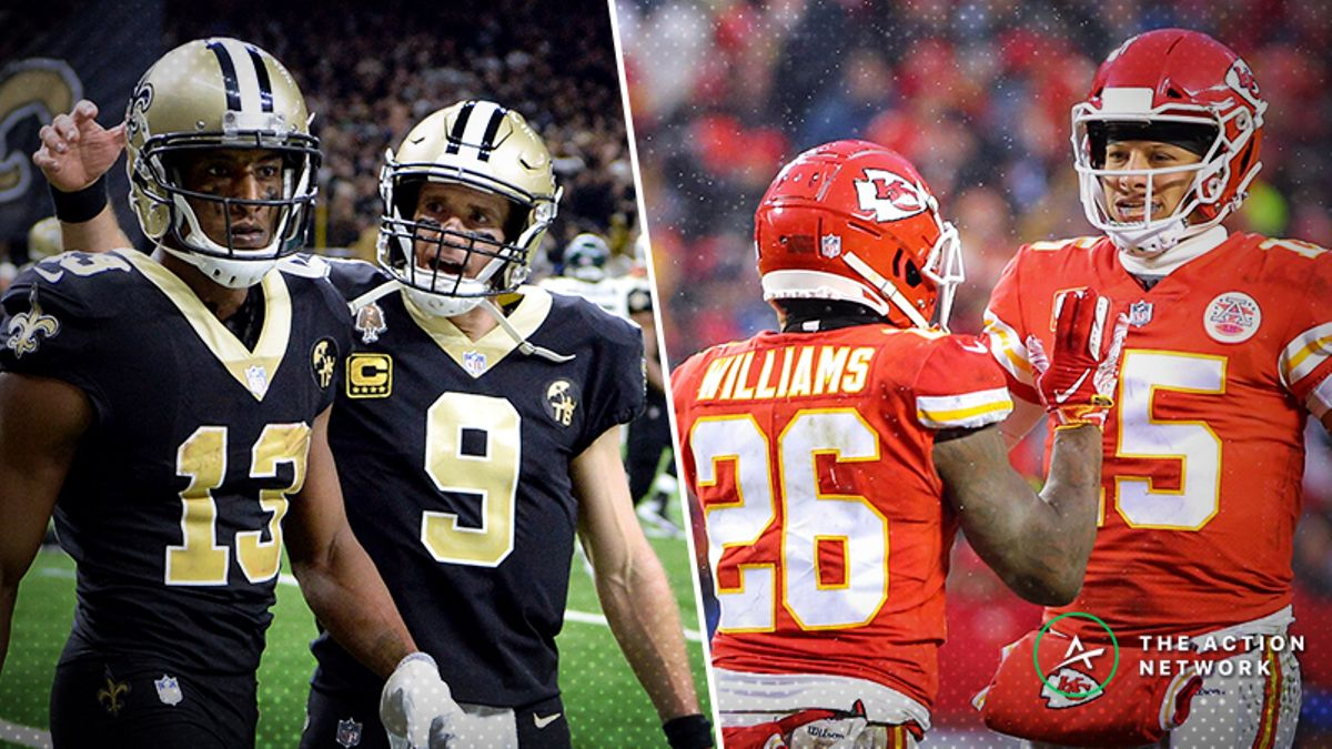 BlackJack's Conference Championships Betting Preview: Picks for Rams-Saints, Patriots-Chiefs article feature image