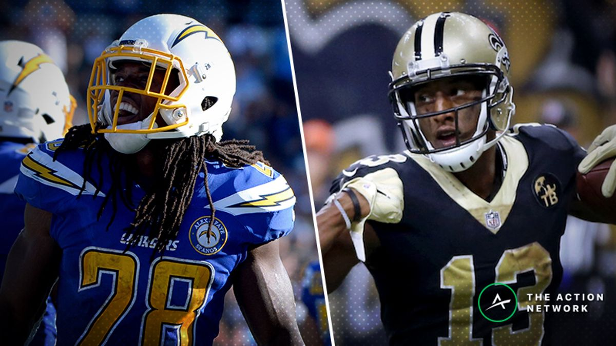 NFL Divisional Round Sunday Cheat Sheet: Betting, Fantasy, More for Chargers-Patriots & Eagles-Saints article feature image