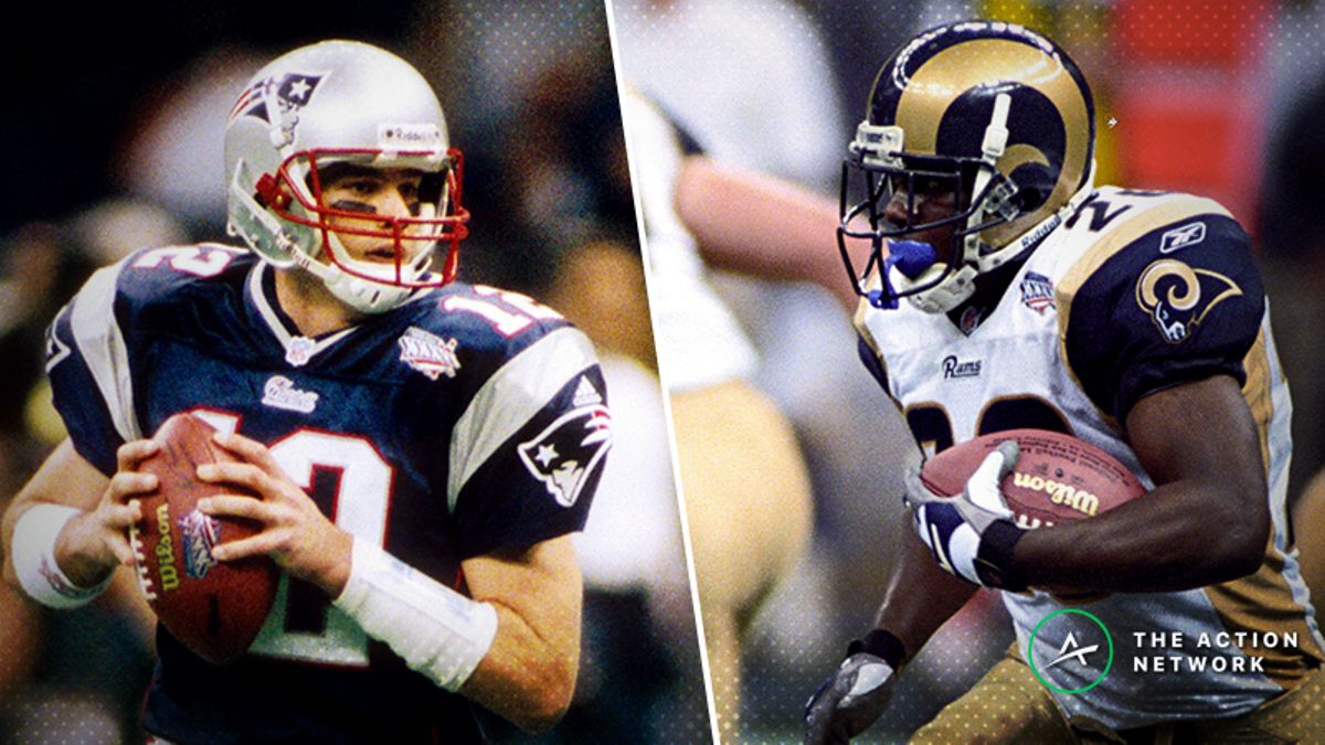 Freedman's Favorite Super Bowl 53 Historical Matchup Bets: Tom Brady, Todd Gurley & Marshall Faulk article feature image
