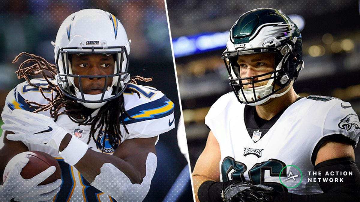 NFL Wild Card Sunday Cheat Sheet: Betting, Fantasy, More for Chargers-Ravens & Eagles-Bears article feature image