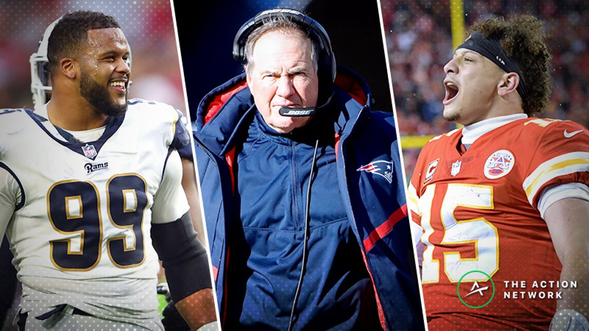 AFC, NFC Championship Mega Guide: How to Bet Rams-Saints and Patriots-Chiefs article feature image