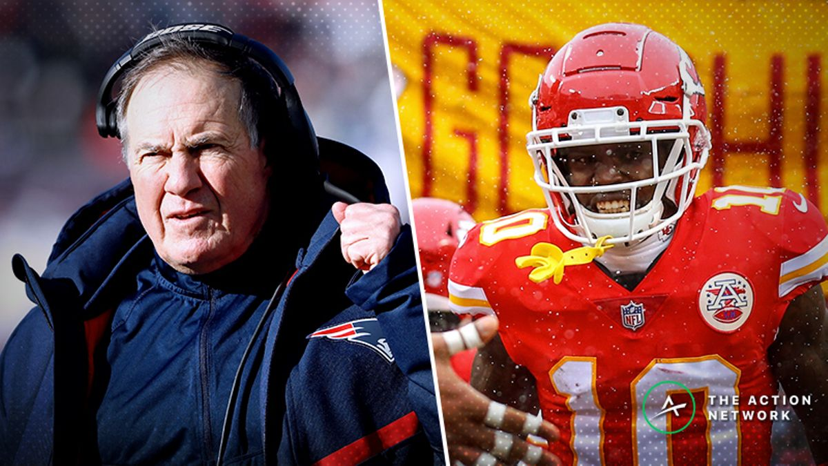 NFL Conference Championship WR/CB Matchups: Does Bill Belichick Have an Answer for Tyreek Hill? article feature image