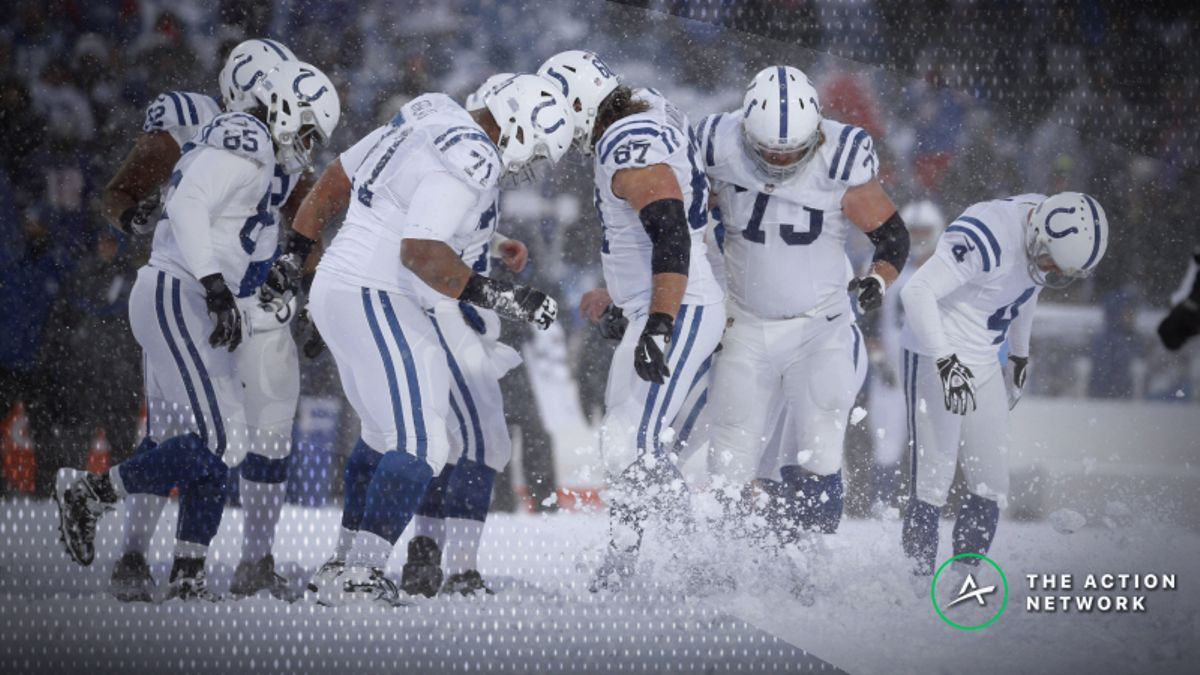 Winter Weather Forecasts Affecting Colts-Chiefs, Chargers-Patriots Betting Lines article feature image
