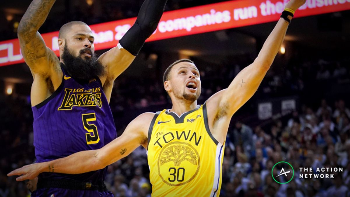 NBA Sharp Report: Wiseguys Doubling Down on Warriors-Lakers Spread, Over/Under article feature image