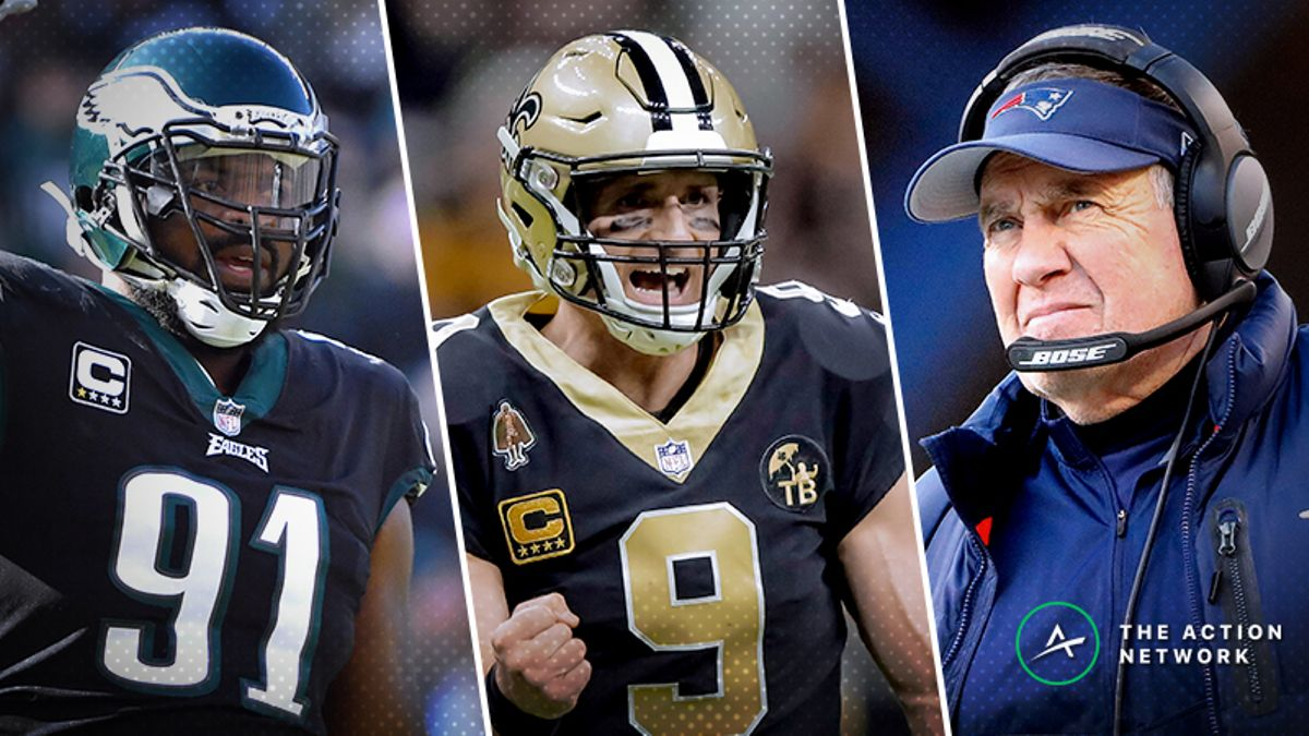Sunday NFL Divisional Round Mega Preview: How to Bet Chargers-Patriots, Eagles-Saints article feature image