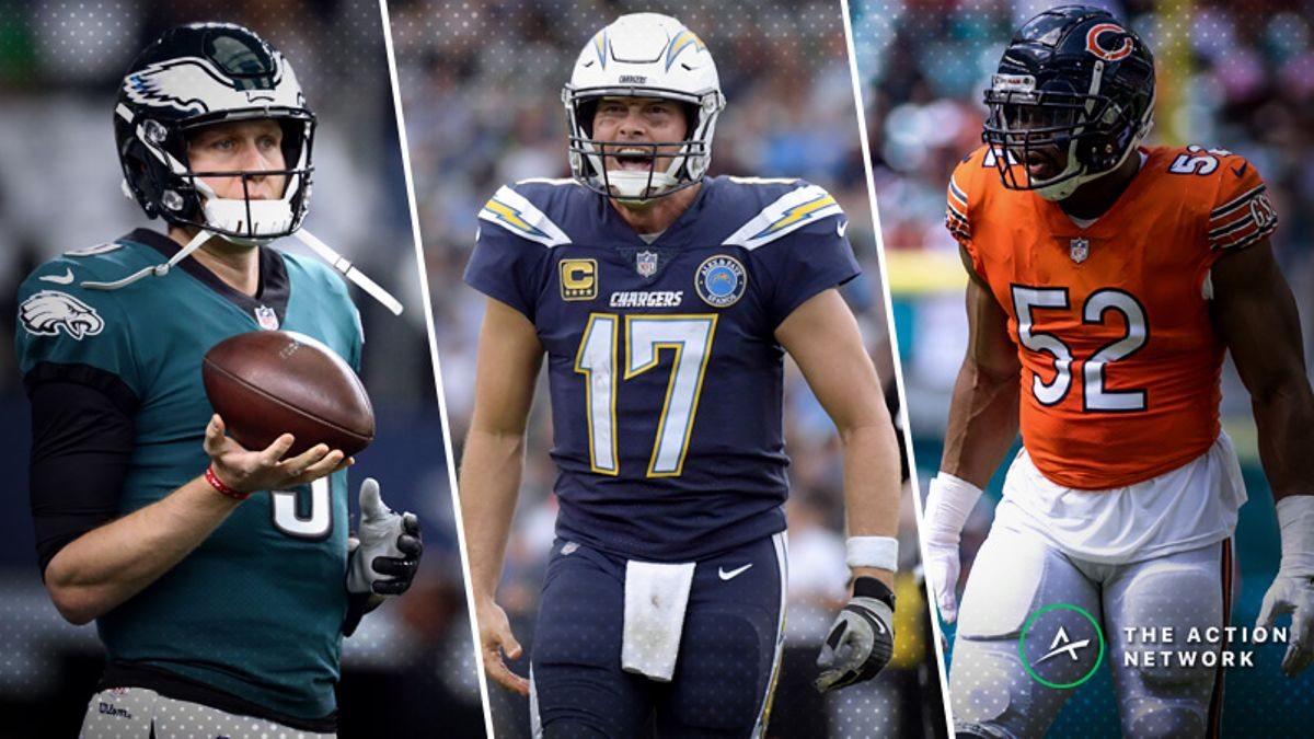 Sunday NFL Wild-Card Mega Preview: All the Betting Angles for Chargers-Ravens, Eagles-Bears article feature image