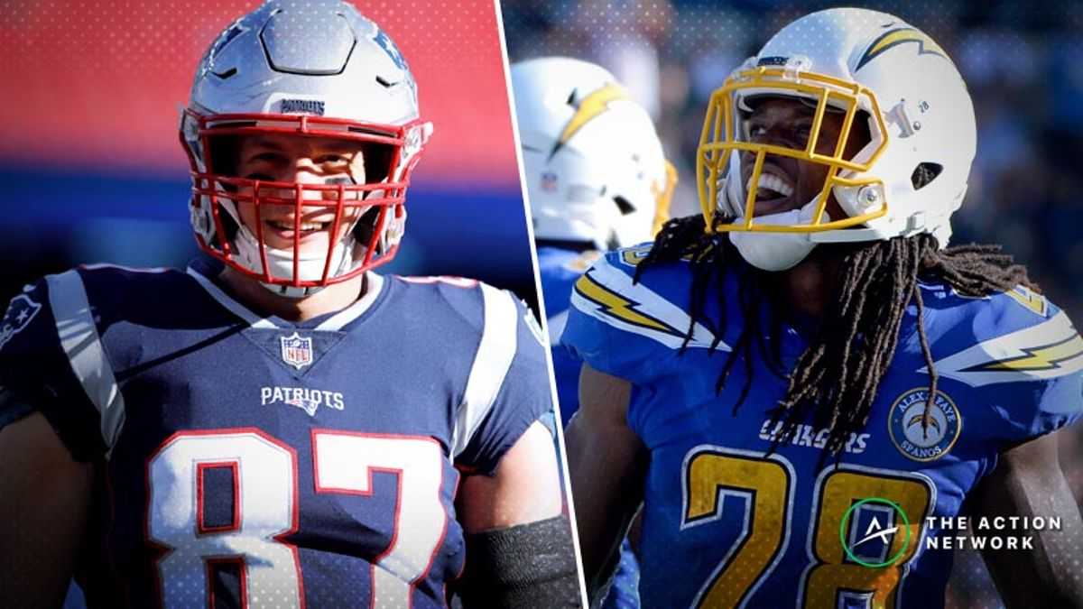 Best Chargers-Patriots Playoff Prop Bets: Go Low on Rob Gronkowski and Melvin Gordon? article feature image