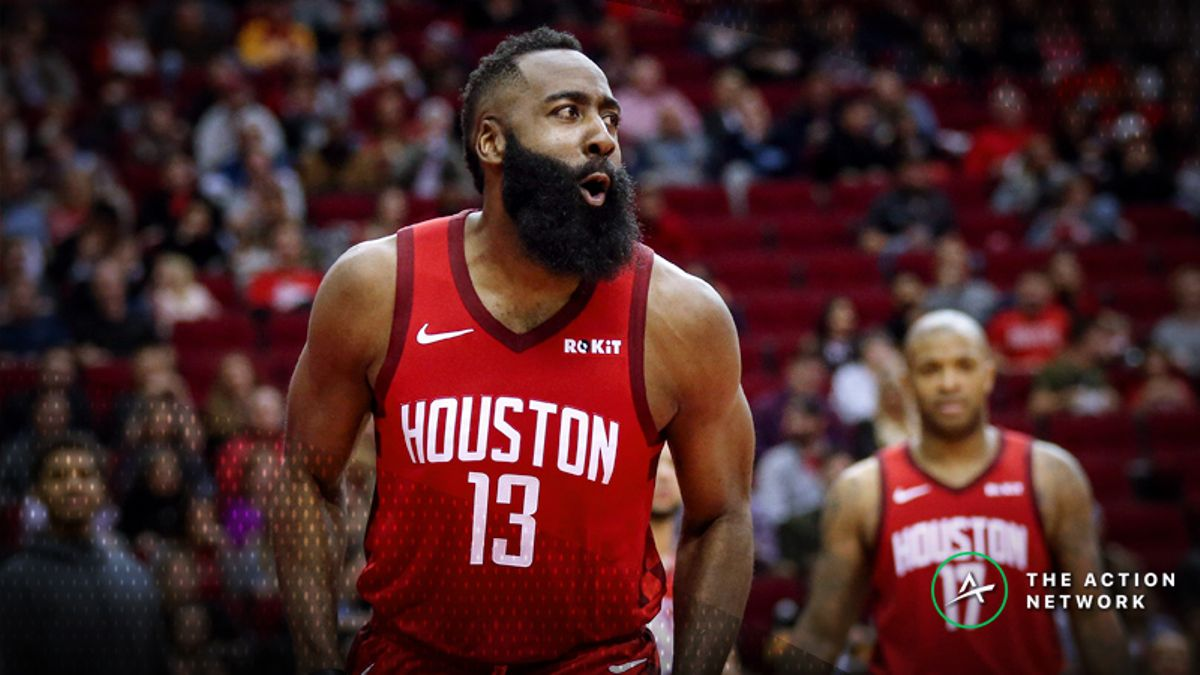 NBA MVP Odds: James Harden Now Favored After 44-point Triple-Double vs. Warriors article feature image