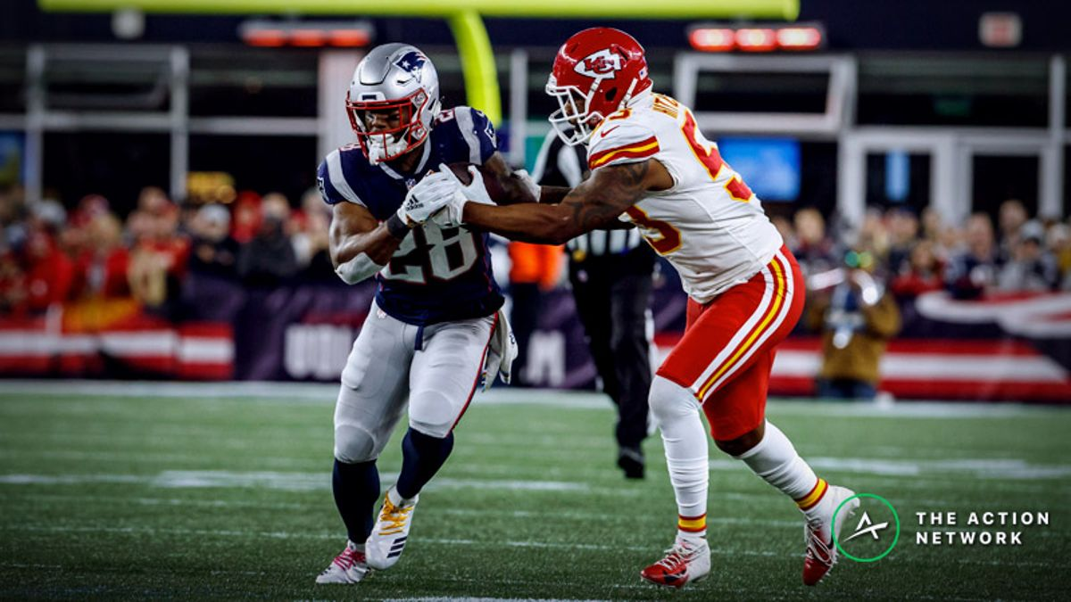 Best Patriots-Chiefs Player Props: Should You Trust James White as a Rusher in AFC Championship? article feature image