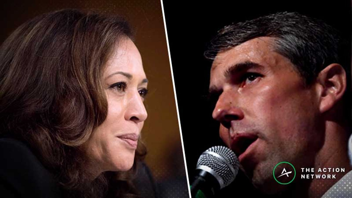 2020 Democratic Primary Odds: Beto O'Rourke, Kamala Harris Lead Field article feature image