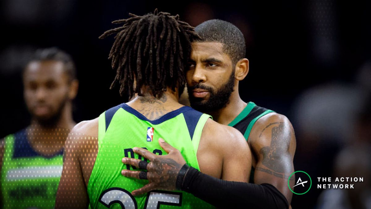 NBA Injury Report: Betting, DFS Impact of Kyrie Irving, Derrick Rose Injuries article feature image