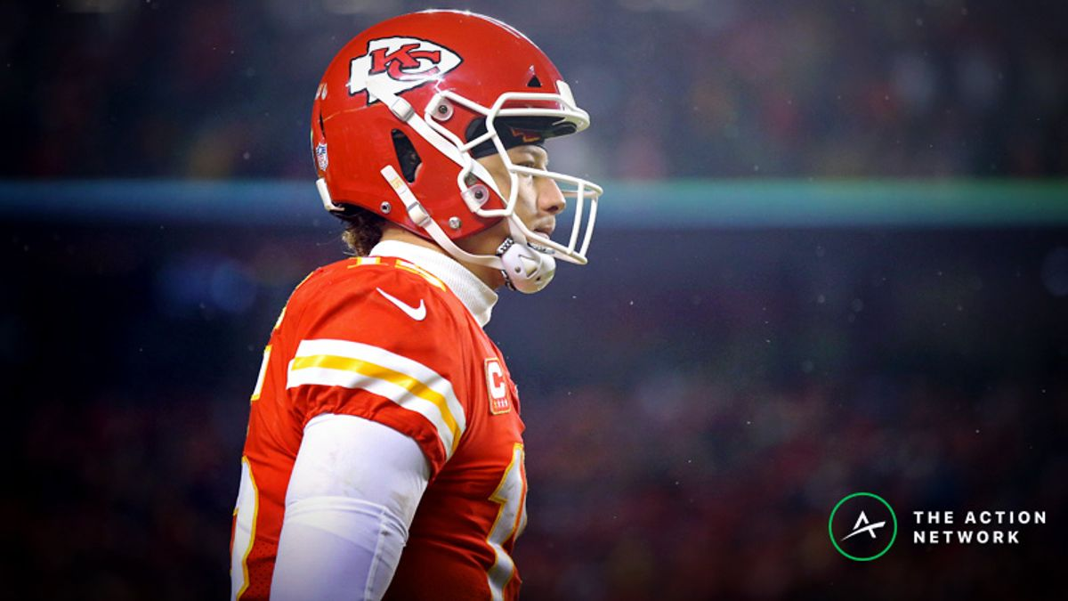 NFL Conference Championship Fantasy QB Breakdown: Should You Play Patrick Mahomes in the Cold? article feature image