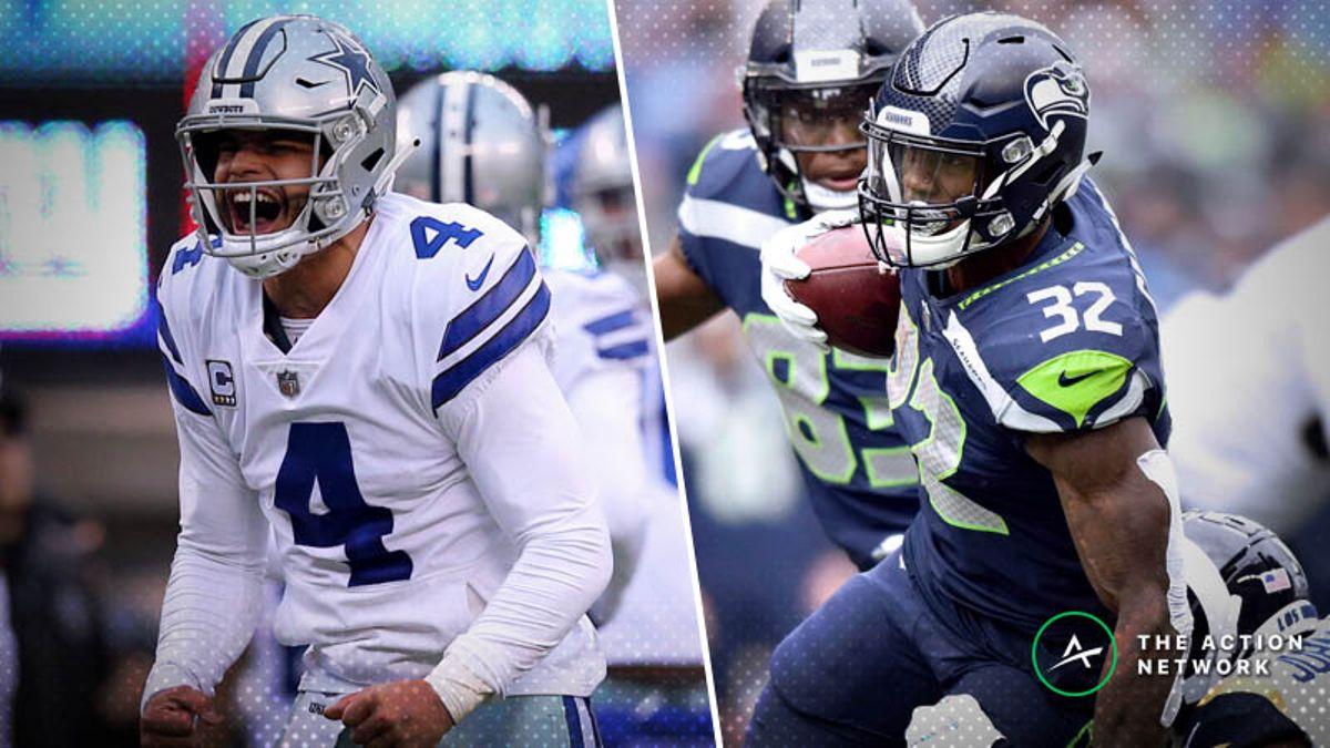 Best Seahawks-Cowboys Wild Card Prop Bets: Dak Prescott, Chris Carson, More article feature image