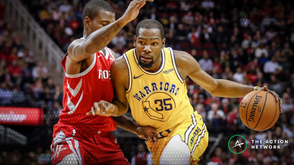 NBA Sharp Report: How Pros Are Betting Rockets-Warriors article feature image