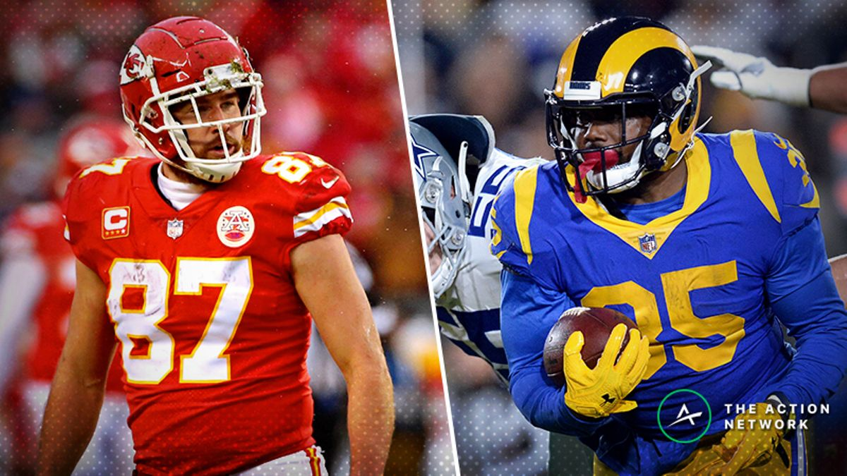 Koerner: How I'm Betting Travis Kelce, C.J. Anderson Props in NFL Conference Championships article feature image
