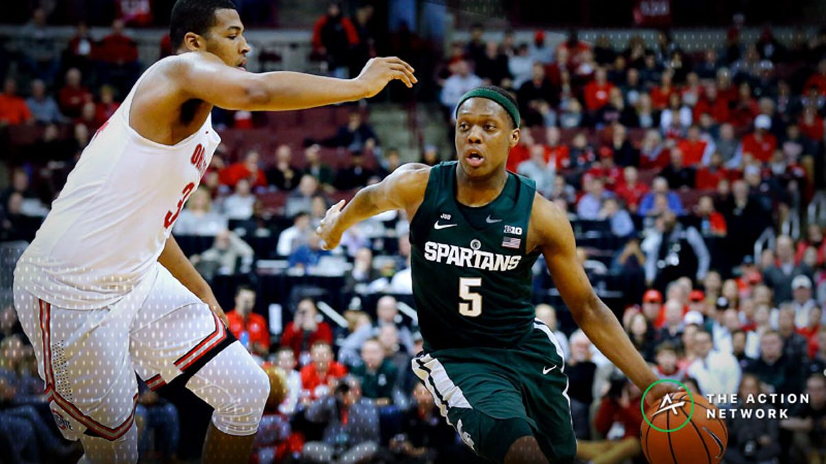 Saturday's College Basketball Betting Previews: Michigan State-Ohio State, Kansas-Iowa State article feature image