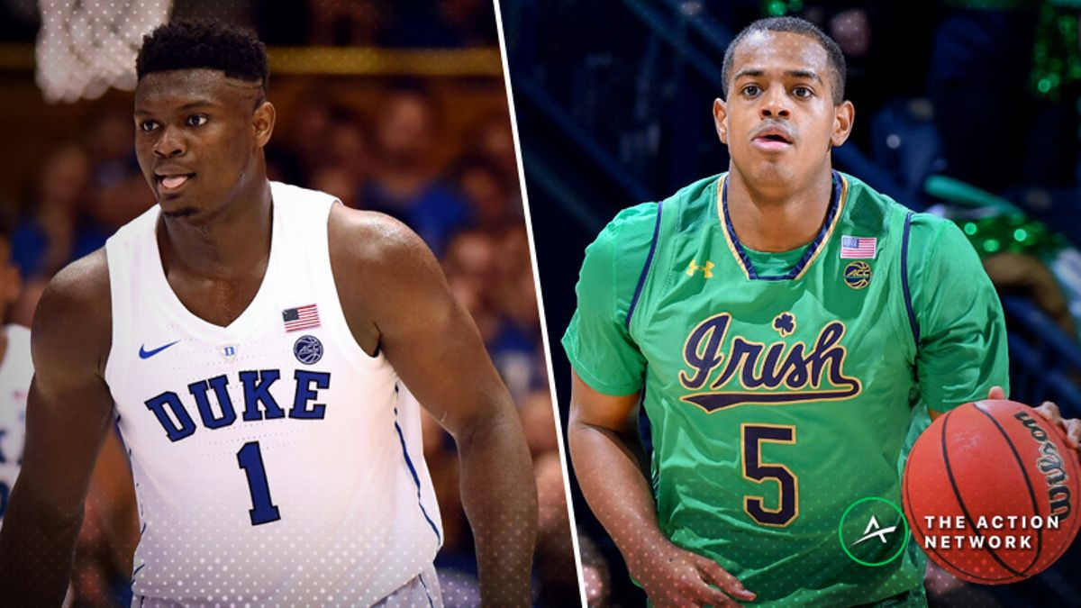 Duke-Notre Dame Betting Preview: Is a Blue Devils Letdown Coming in South Bend? article feature image