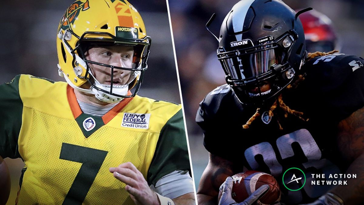 AAF Fantasy Football Rankings for Week 2 article feature image