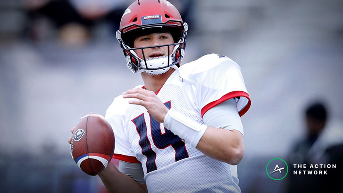 Arizona Hotshots-Memphis Express AAF Betting Guide: Trust Christian Hackenberg to Cover? article feature image