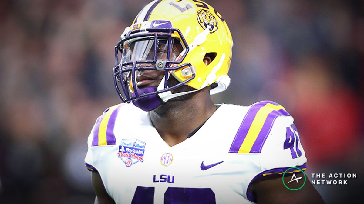 Devin White NFL Combine Prop Bets: Just How Fast Will He Run the 40-Yard Dash? article feature image