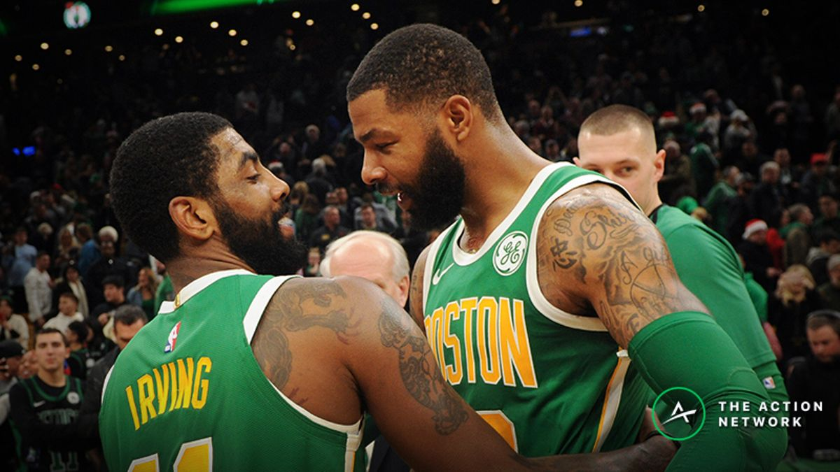 Tuesday's NBA Injury Report: Betting, DFS Impact of Kyrie Irving and Marcus Morris Injuries article feature image