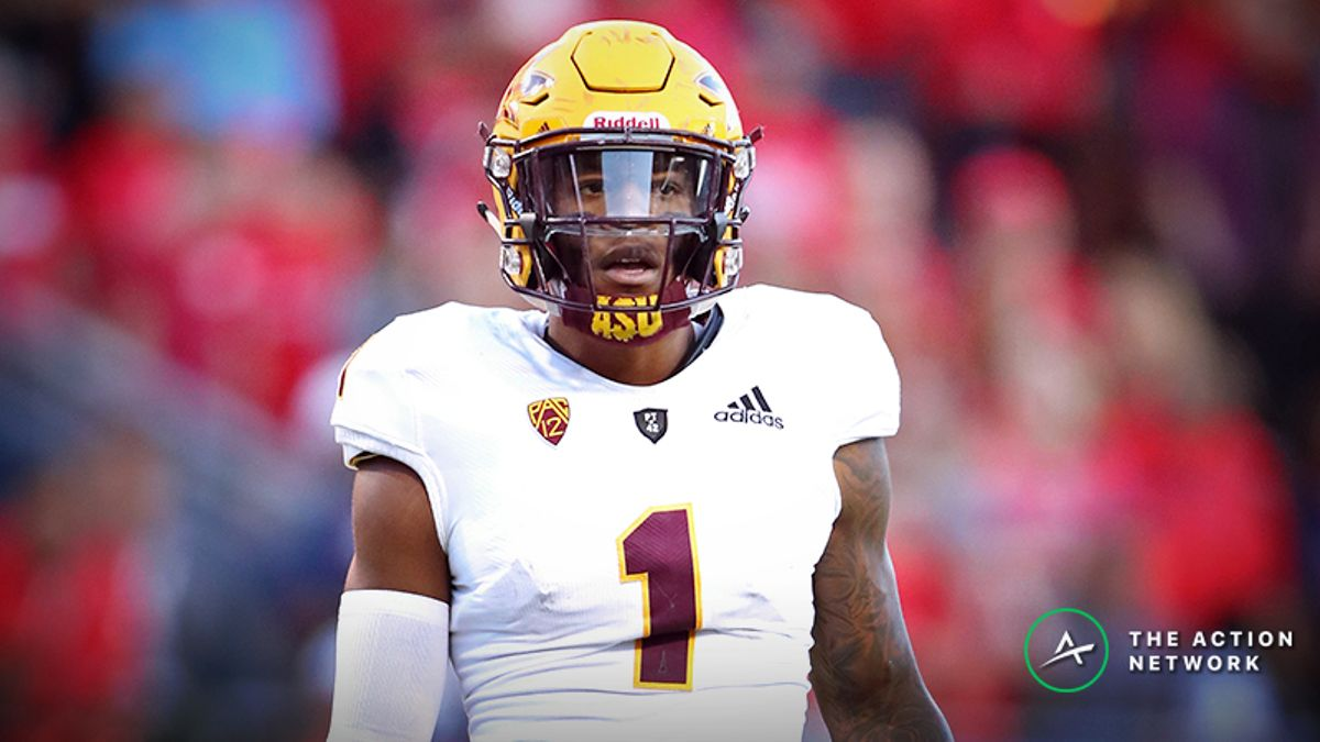 N'Keal Harry NFL Combine Prop Bet: Over/Under 4.6 Seconds in the 40-Yard Dash? article feature image