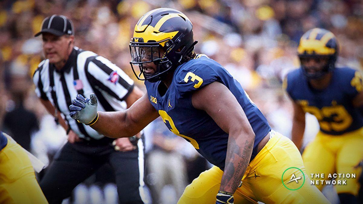 Rashan Gary NFL Combine Prop Bets: How Freaky Is Michigan's Stud Lineman? article feature image
