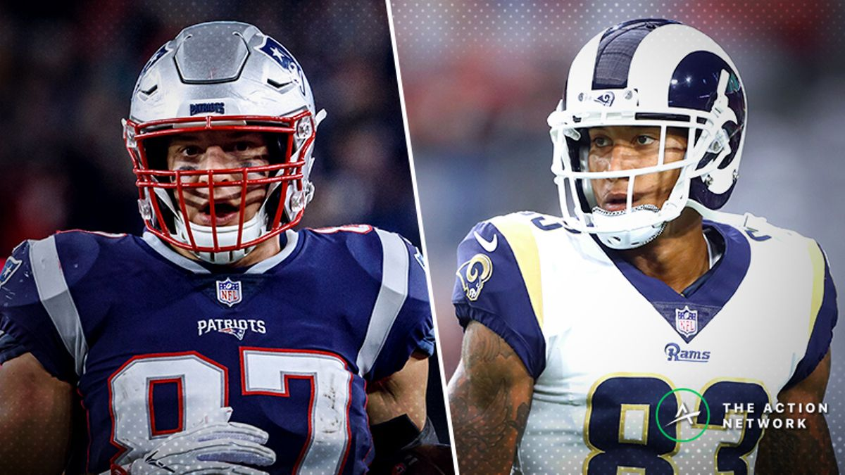 Freedman's Favorite Super Bowl 53 Matchup Prop Bet: Rob Gronkowski vs. Josh Reynolds article feature image