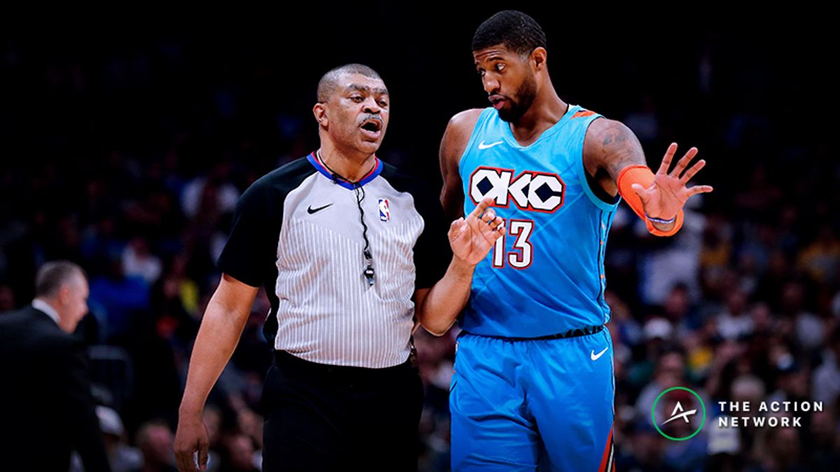 Paul George Injury News Moving 76ers-Thunder Spread, Over/Under article feature image