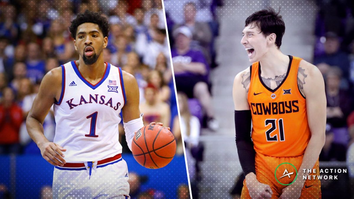 Saturday's College Basketball Betting Previews: Oklahoma State-Kansas, Louisville-Florida State article feature image