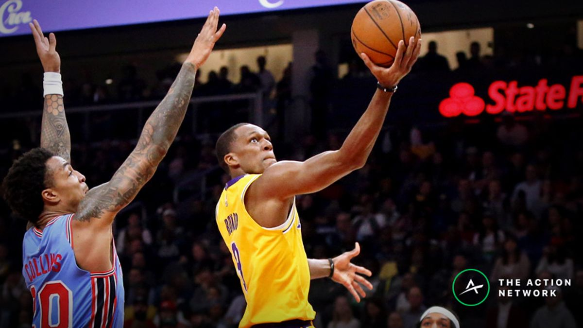 Freedman's Favorite NBA Player Prop (Feb. 21): Will Rajon Rondo Score More Than 10 Points? article feature image