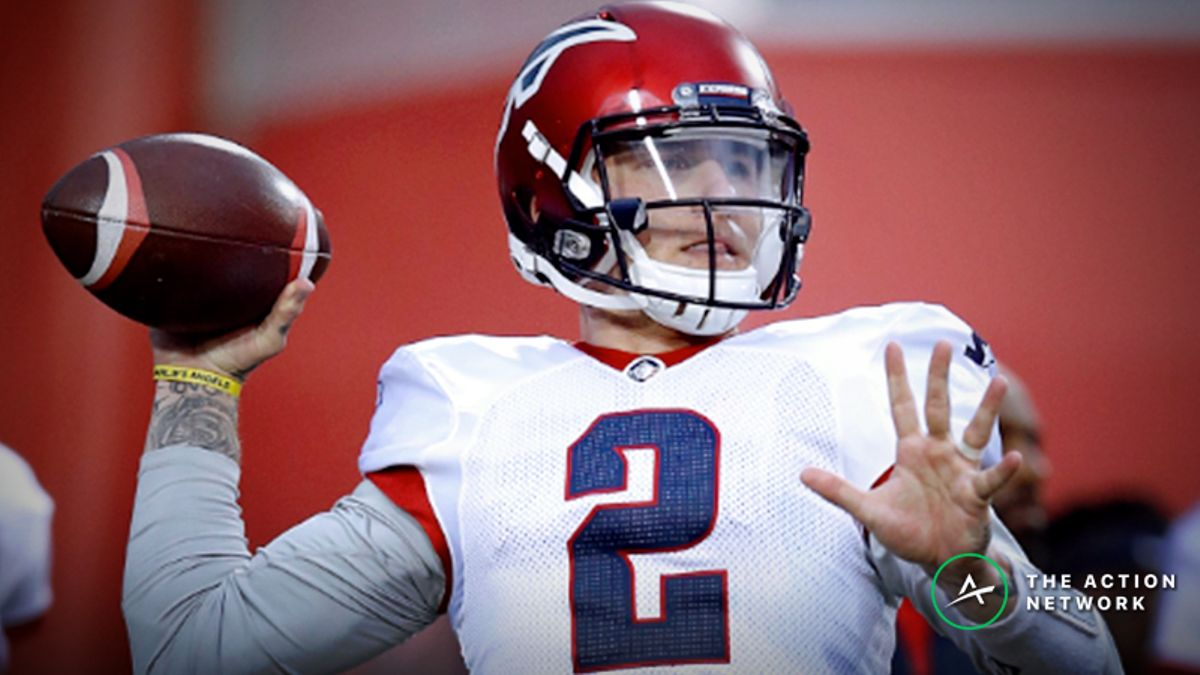 Koerner's AAF Power Ratings: How Much Should Orlando Be Favored over Memphis If Johnny Manziel Starts? article feature image