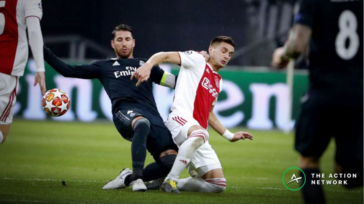 Champions League Round of 16: Bettors Backing Ajax to Upset Real Madrid article feature image