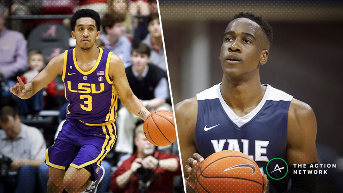 LSU vs. Yale Betting Guide: Can Bulldogs' Offense Spark NCAA Tournament Upset? article feature image