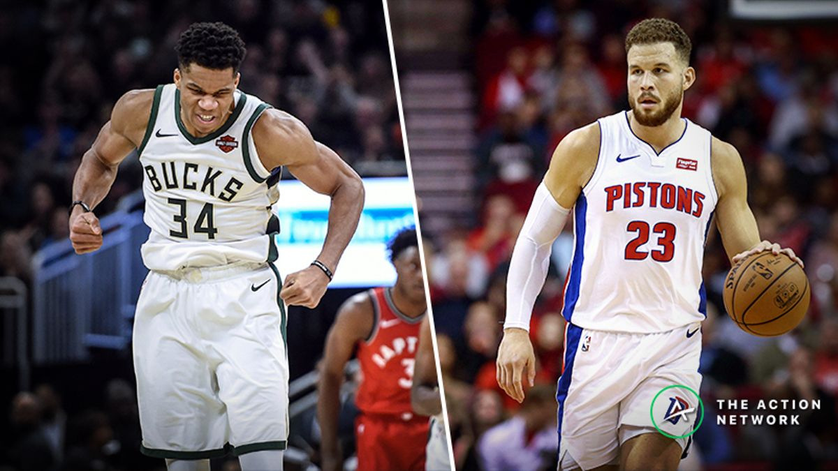 Updated Bucks vs. Pistons Series Odds, Schedule article feature image