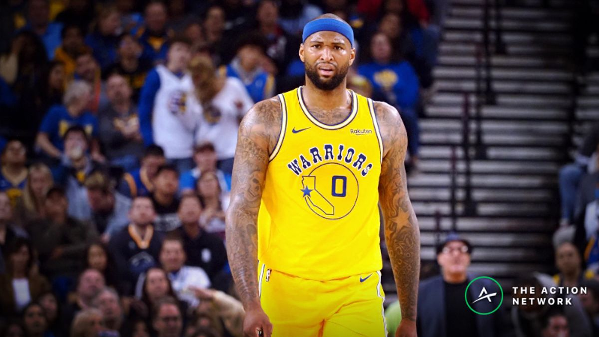 Warriors' NBA Title Odds Fall After DeMarcus Cousins Quad Injury article feature image