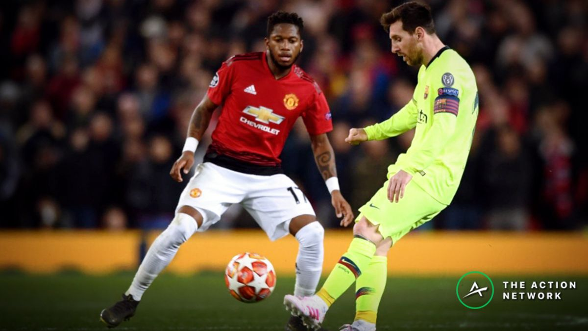 Champions League Quarterfinal: Sharp and Public Bettors Disagree on Barca-Man United article feature image
