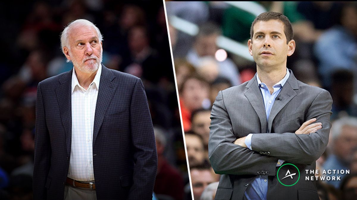 NBA Playoffs Coaching Betting Rankings: Popovich, Stevens Thrive in Second Half article feature image
