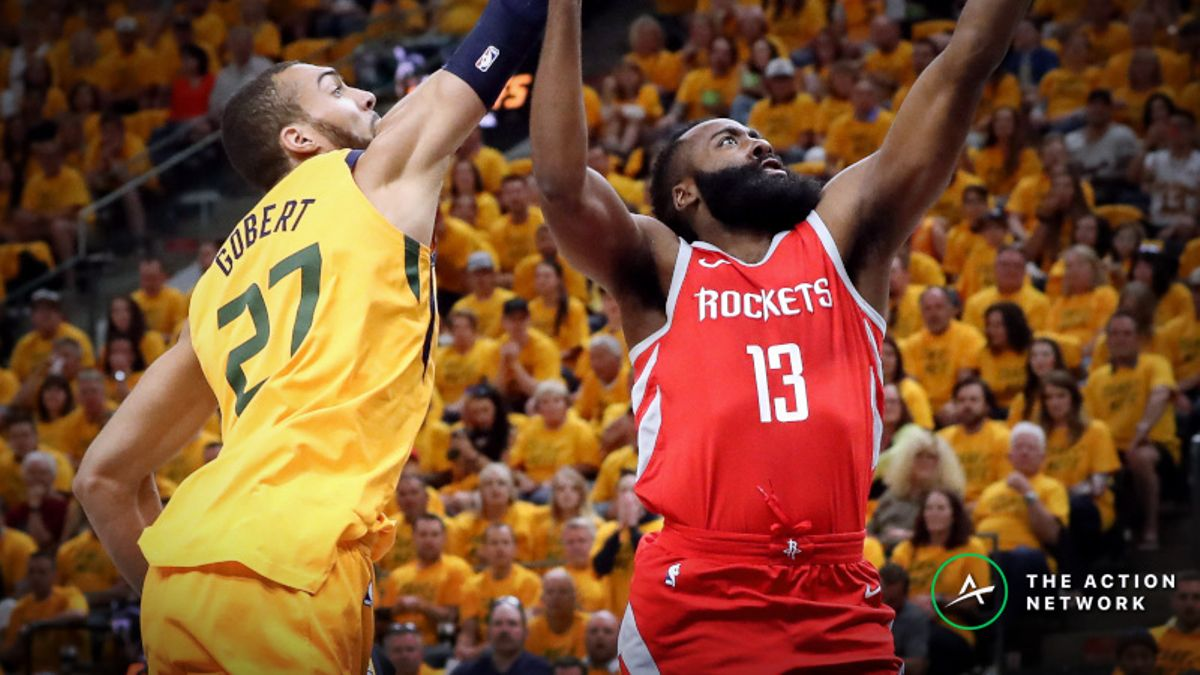 Rockets-Jazz Series Betting Preview: Can Utah Keep Rudy Gobert On-Court vs. Harden Onslaught? article feature image