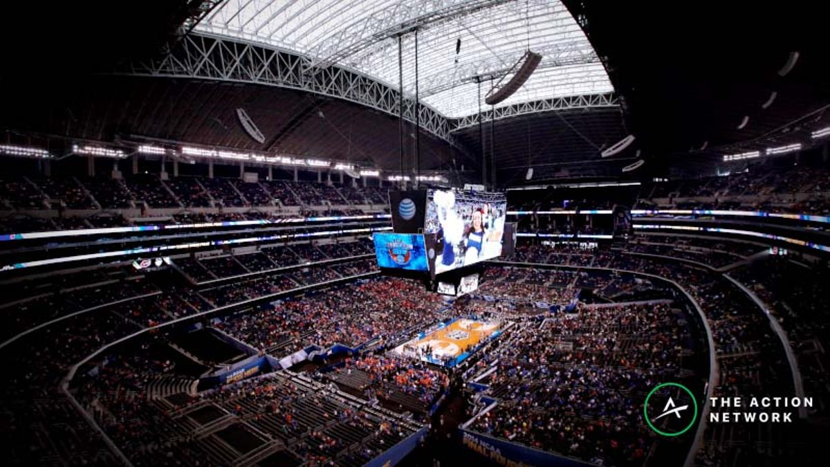 College Basketball Teams Shoot Worse in Football Stadiums, But Don't Rush to Bet Final Four Unders article feature image