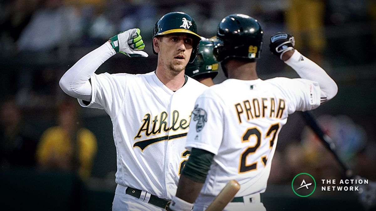 MLB Daily Betting Model, 5/13: Can Oakland Continue to Dominate Left-Handed Pitching? article feature image