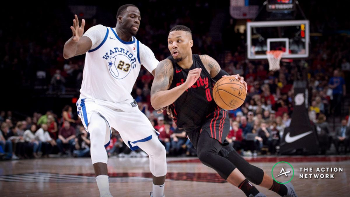 Warriors vs. Blazers Game 1 Betting Preview: Will Golden State Keep Rolling Without Durant? article feature image