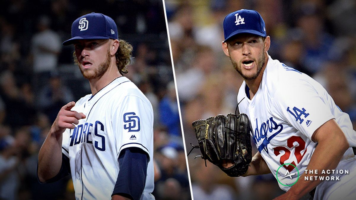 MLB Daily Betting Model, 5/14: Will Chris Paddack, Clayton Kershaw Have a Pitcher's Duel in Los Angeles? article feature image