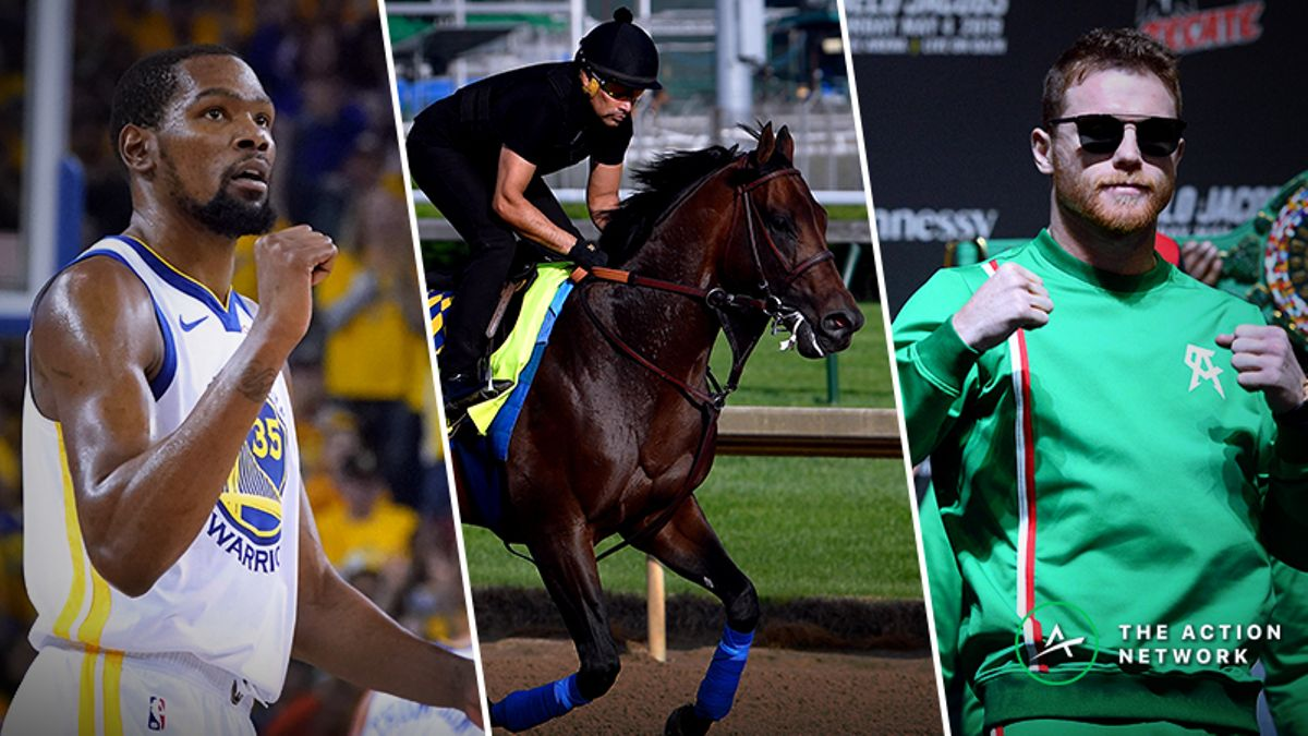 Saturday Betting Cheat Sheet: Kentucky Derby, Warriors-Rockets, Canelo vs. Jacobs, More article feature image
