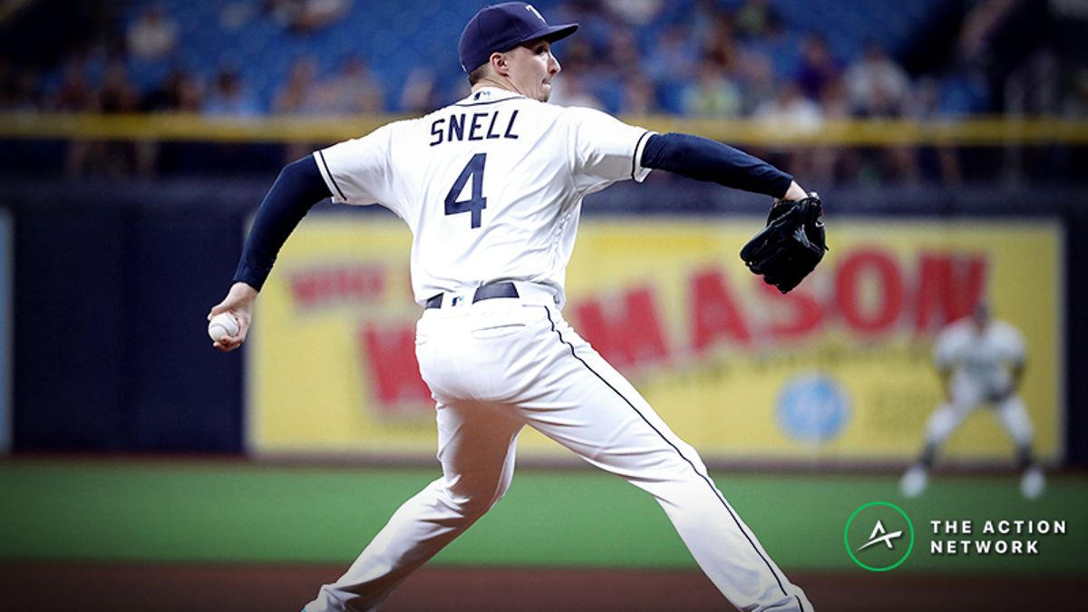 MLB Daily Betting Model, 5/12: Can Blake Snell Clinch a Series Win over the Yankees? article feature image
